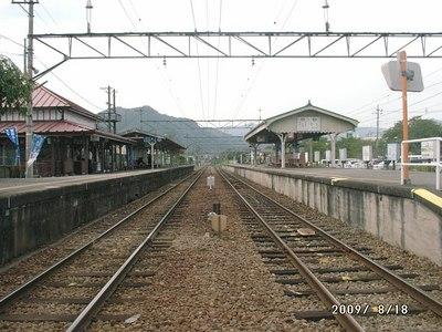 秩父鉄道・長瀞駅のホーム